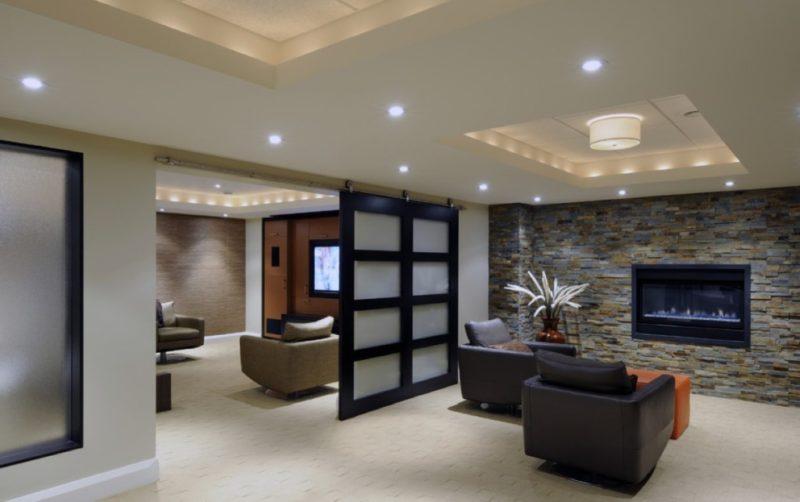 small narrow basement ideas
