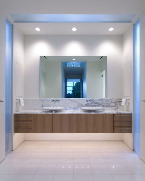 plain bathroom mirror ideas