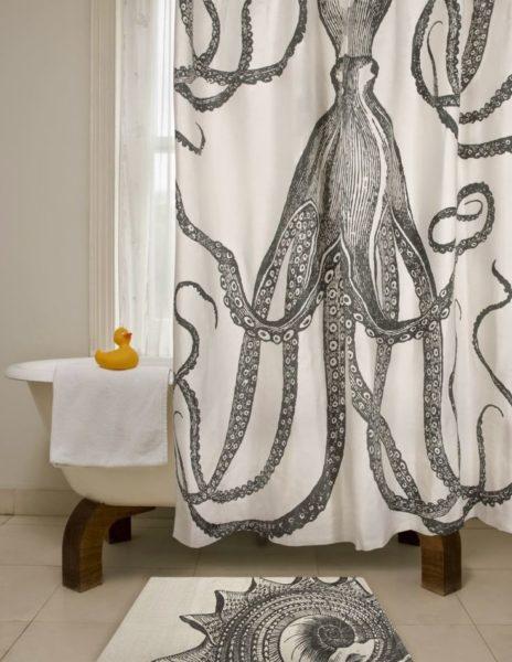 l shaped shower curtain ideas