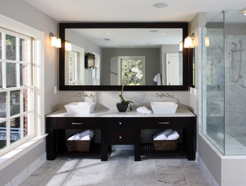 bathroom lighting above mirror ideas