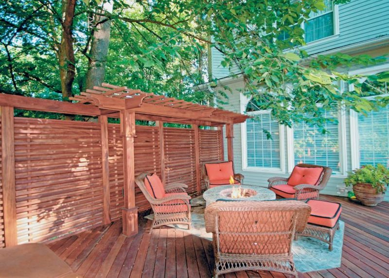 small wood deck ideas