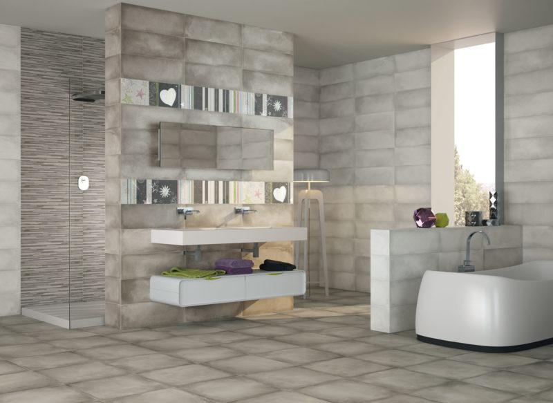 dark grey tile bathroom ideas