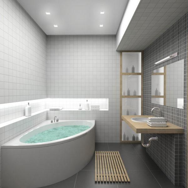 grey small bathroom vanity