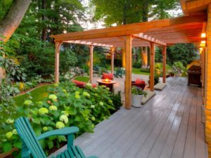 covered decking ideas uk