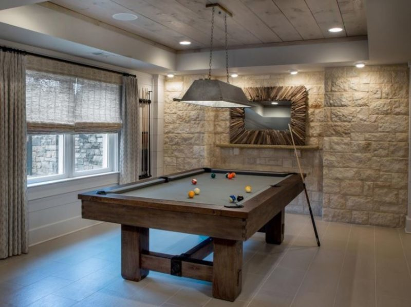 rec room with fireplace ideas