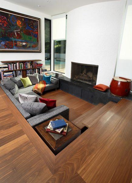 sims 3 sunken living room
