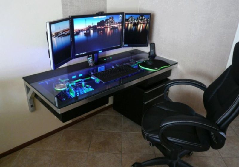 diy computer desk with drawers