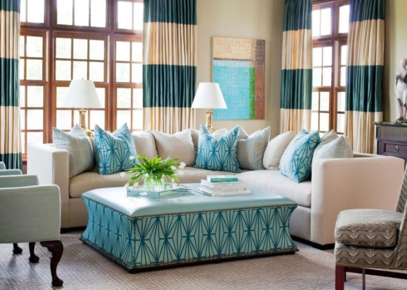 turquoise blue room decor