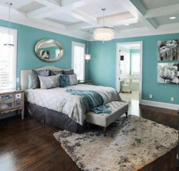 turquoise wall decor living room